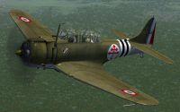 Screenshot of Armee de l'Air Douglas SBD Dauntless in flight.