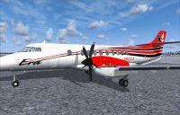 Screenshot of BAe Jetstream 41 Era Alaska on the ground.