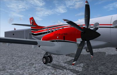 Screenshot of BAe Jetstream 41 Era Alaska prop engine.