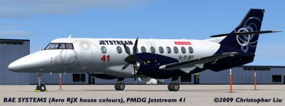 Screenshot of BAe Systems 2001 House Livery J41 on the ground.