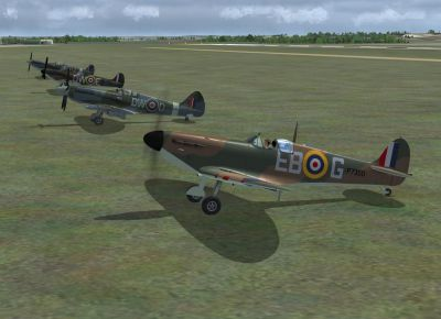 Screenshot of BBMF Spitifre MkIIa 2012 on the ground.