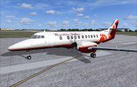 Screenshot of Bearskin Airlines BAe Jetstream 41 on the ground.