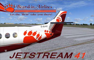 Screenshot of Bearskin Airlines BAe Jetstream 41 tail.