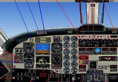Screenshot of Beechcraft B1900C main panel.