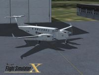 Screenshot of Beechcraft King Air 350 on the ground.