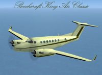 Screenshot of Beechcraft King Air Classic in flight.