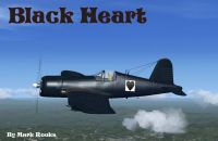 Screenshot of Black Heart Corsair in flight.