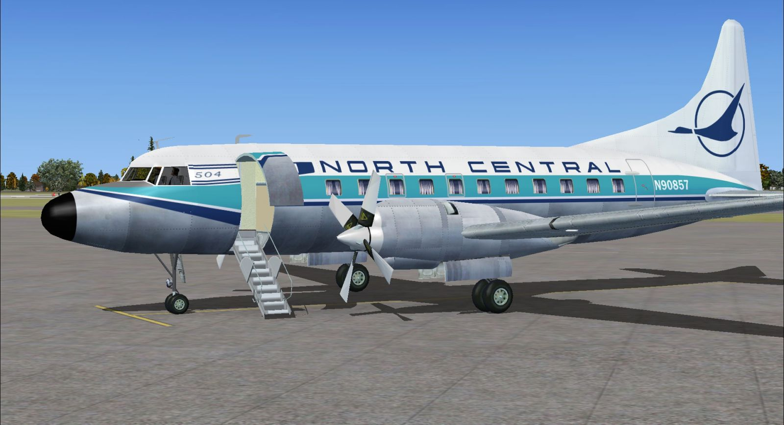 Blue Feather North Central Convair 580 for FSX