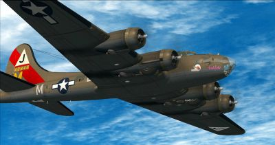 Screenshot of Boeing B-17 Flying Fortress in flight.