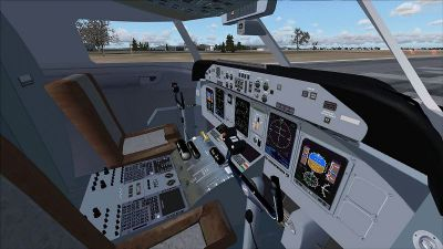 Screenshot of Bombardier Dash 8-Q400 cockpit.