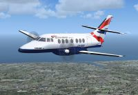 Screenshot of British Aerospace Jetstream 31 in flight.