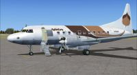 Screenshot of Brown Aspen Convair 580 on the ground (left side).