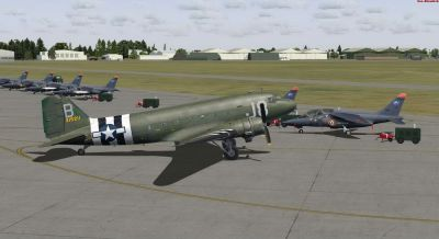 Screenshot of C-47A Skytrain N1944A on the ground.