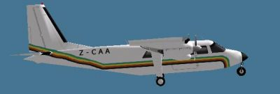 Screenshot of  CAAZ Britten-Norman BN2A in flight.