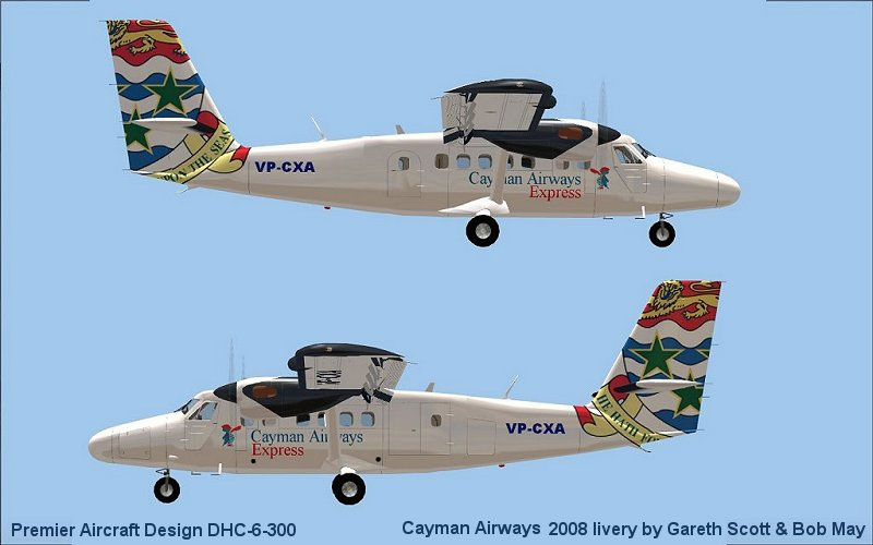 Cayman Airways Express Dhc6 300 For Fsx