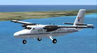 Screenshot of Cayman Airways Express Twin Otter in flight.