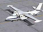 Screenshot of a white Central American Airways Let-410 UVP E20 on the ground.