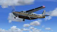 Screenshot of Cessna 208B Caravan in flight.