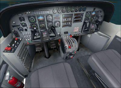 Screenshot of Cessna 208B Caravan cockpit.