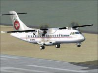 Screenshot of Cimber Air (Cimber Sterling) ATR 42-500 taking off.