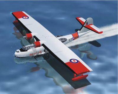 Screenshot of PBY-5A Catalina on water.