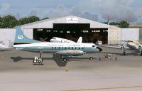 Screenshot of Convair CV-640 N-3407 outside hangar.