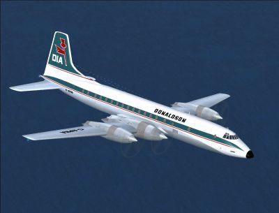 Screenshot of DIA Bristol Britannia in flight.