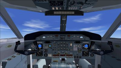 Screenshot of DeHavilland (Bombardier) Dash 8-Q202 cockpit.