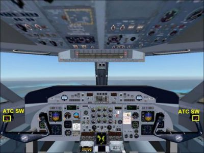 Virtual cockpit of DeHavilland DHC8-Q311.