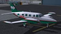 Screenshot of Digital Aviation PA31T2 Cheyenne IIXL on the ground.