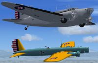 Screenshot of Douglas B-18A Bolo and Boeing B-9 in flight.