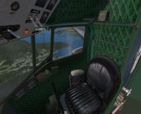 View of Douglas C-47 Skytrain interior.