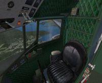 View of Douglas C-47 Skytrain interior.
