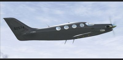 Screenshot of Epic LT 50574 in flight.