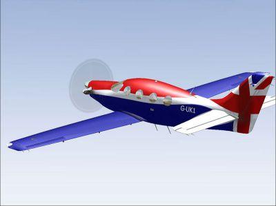 Screenshot of Epic LT G-UK1 in the air.