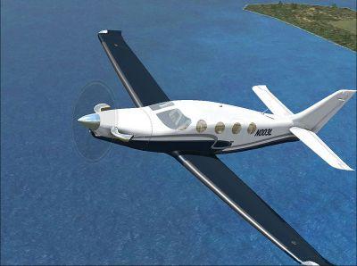 Screenshot of Epic LT N003L in flight.