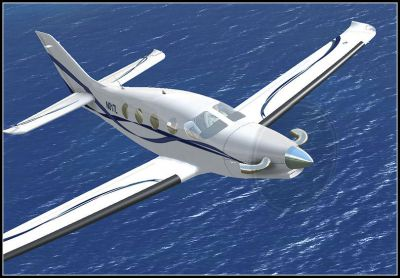 Screenshot of Epic LT N017L in flight.