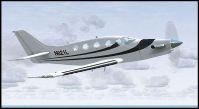 Screenshot of Epic LT N021L in flight.