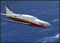 Screenshot of Epic LT VH-OPE in flight.