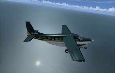 Screenshot of Era Alaska Cessna 208B Grand Caravan in flight.