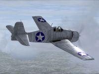 Screenshot of F6F Prototype in flight.
