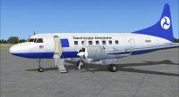 Screenshot of FAA Convair 580 on the ground (left side).