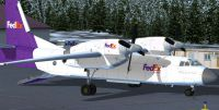 Screenshot of FedEx Antonov An-32 on the ground.