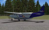 Screenshot of FedEx Cessna C208B Caravan on the ground.