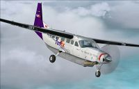 Screenshot of FedEx Feeder Cessna C208 Grand Caravan in flight.
