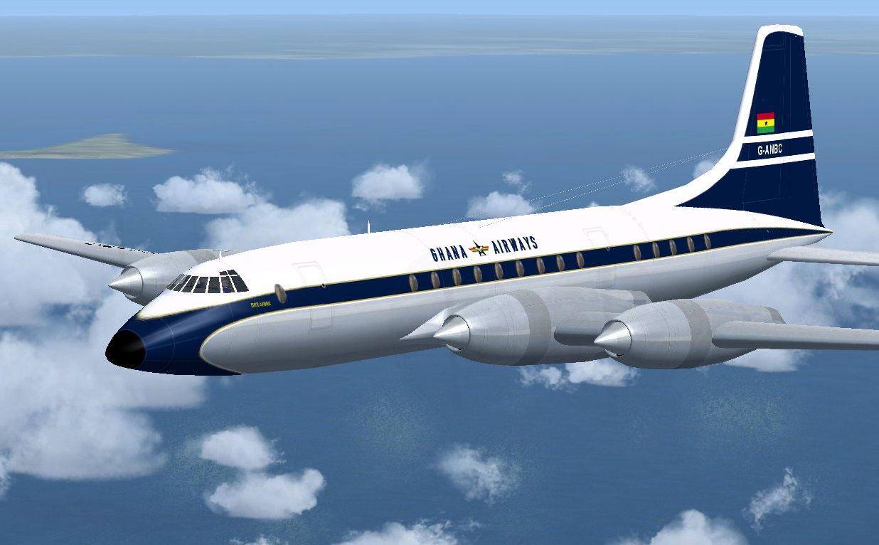 Ghana Airways Bristol Britannia 102 For Fsx