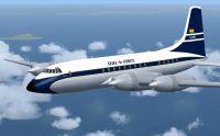 Screenshot of Ghana Airways Bristol Britannia 102 in flight.