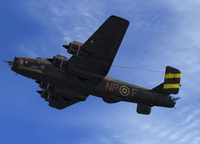 Screenshot of Handley-Page Halifax in flight.