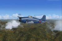 Screenshot of Hawk's Wildcat in flight.