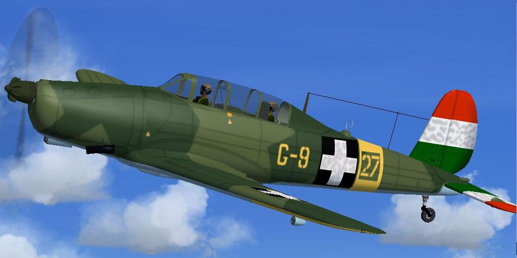 Hungarian Air Force Arado Ar-96b HUNG for FSX